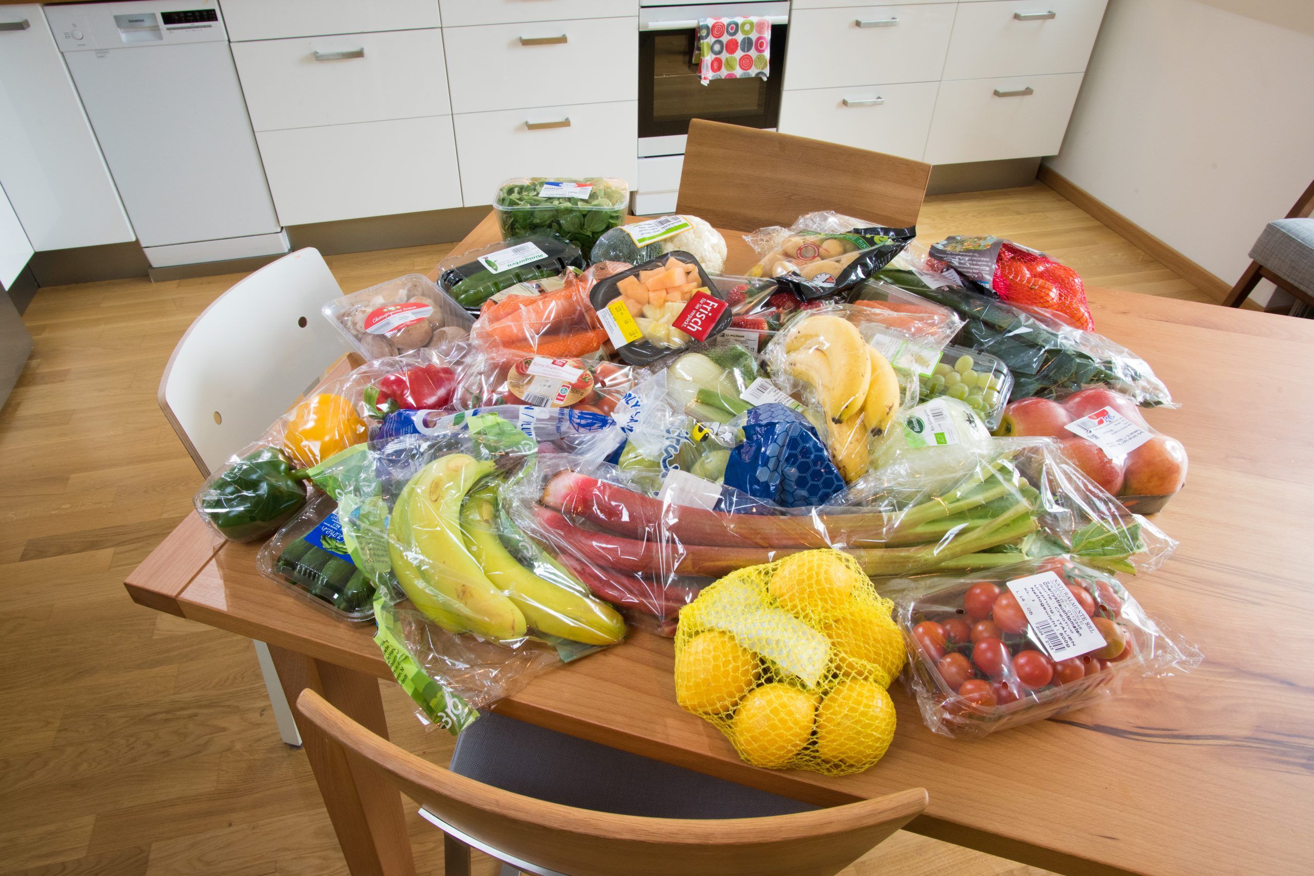 verpacktes Obst